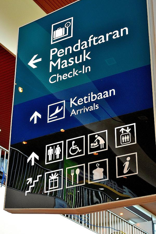 Airport Photograph - Airport Sign by Ku Azhar Ku Saud