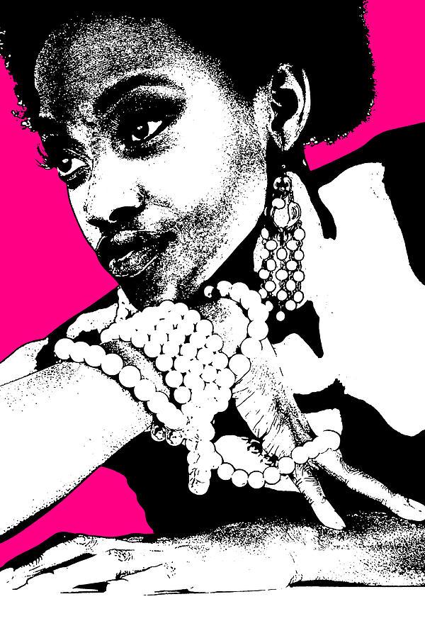 African Photograph - Aisha Pink by Naxart Studio