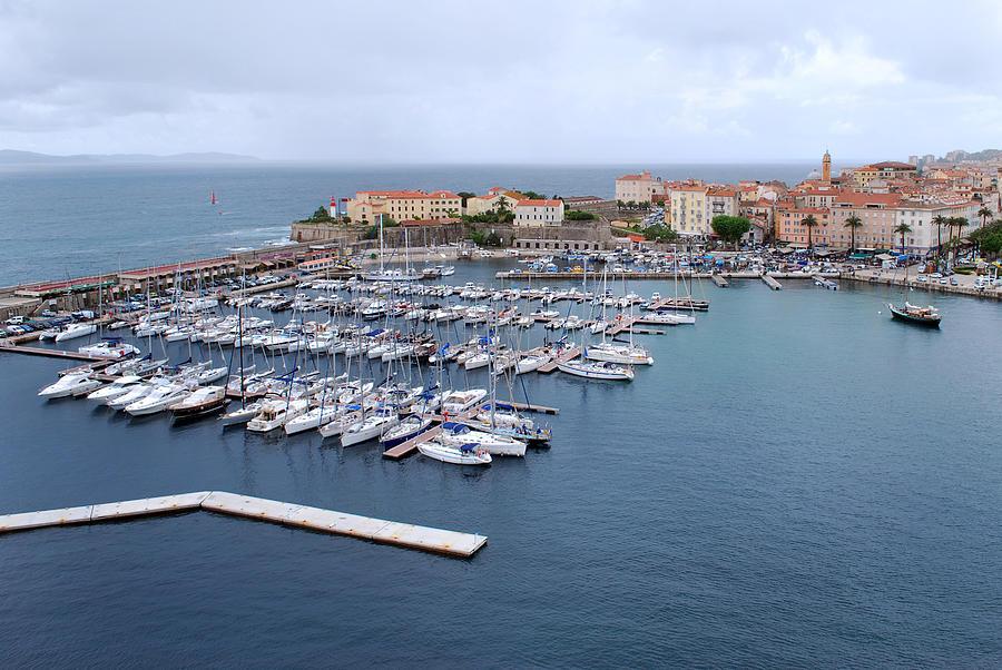 Corsica Photograph - Ajaccio Harbour. by Terence Davis
