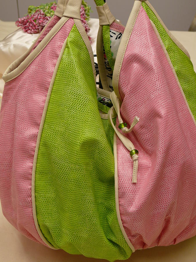 Leather Tapestry - Textile - Aka Sports Bag by Tracie L Hawkins