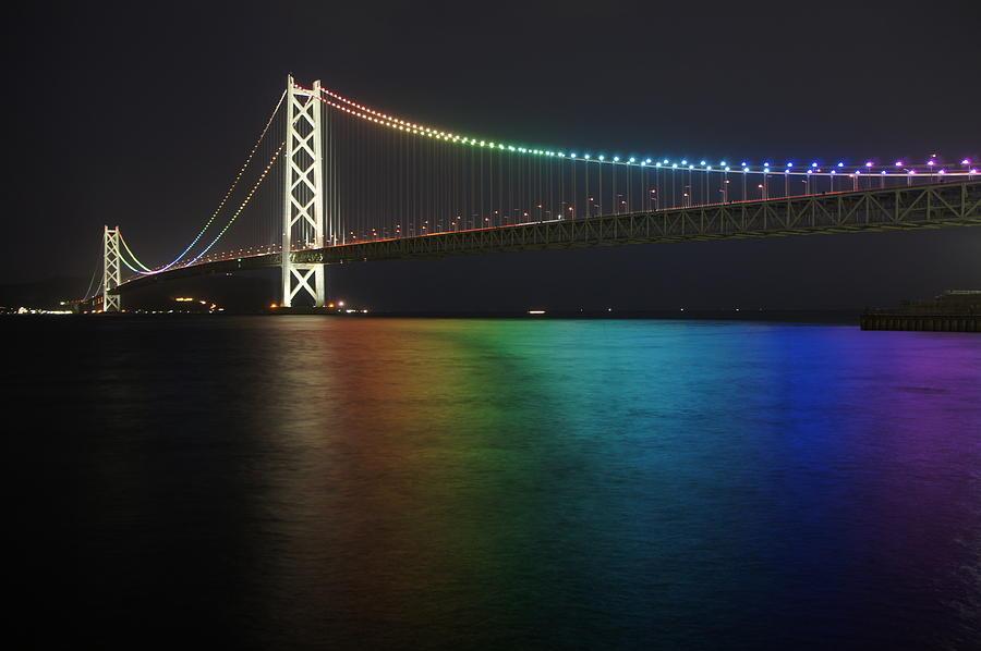 Horizontal Photograph - Akashi Kaikyo Oohashi by Manish Prabhune