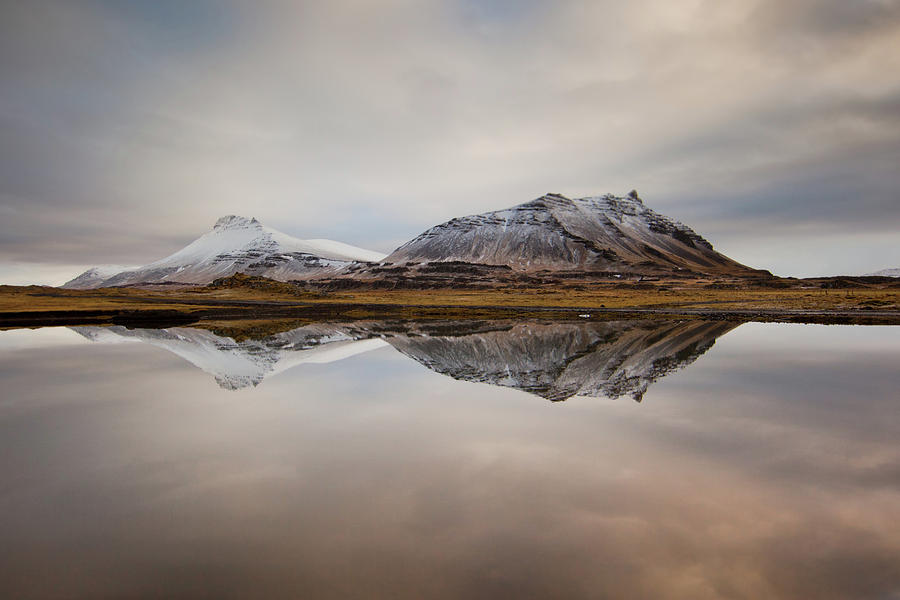 Horizontal Photograph - Akrafjall, Icelandic Mountain by Johann S. Karlsson