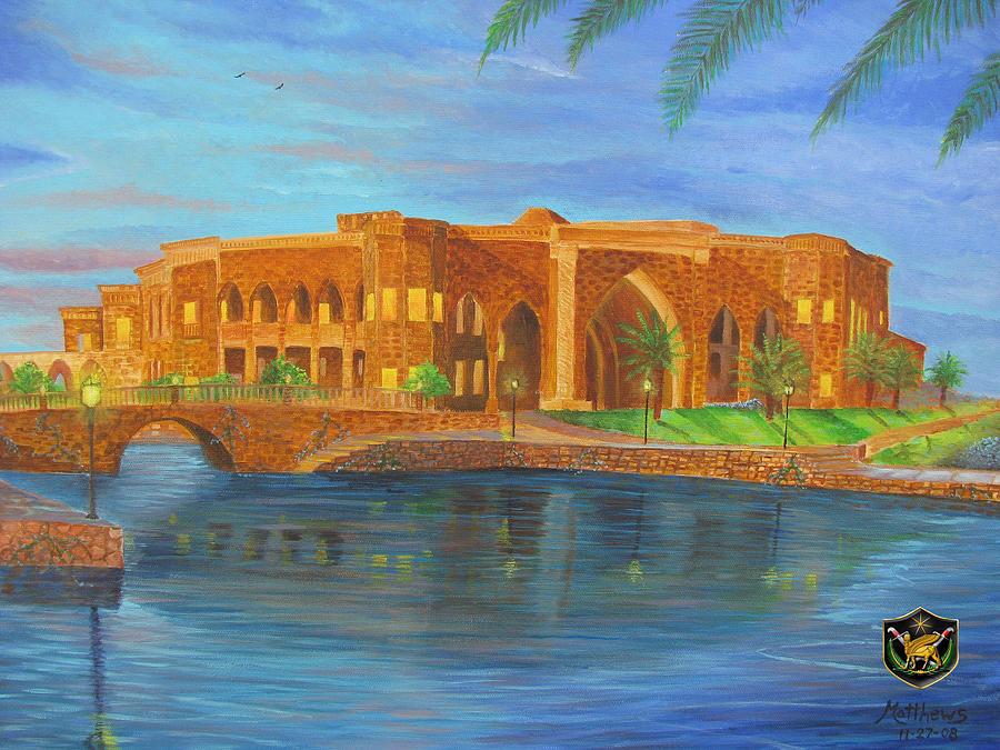 Iraq Painting - Al Faw Palace by Michael Matthews