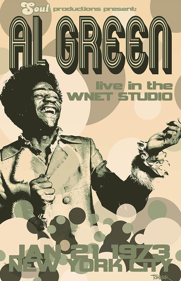 Al Green Poster Digital Art by Dean Tomasek