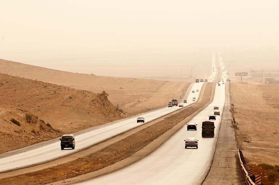 Horizontal Photograph - Al Mafraq Desert, Jordan by Jim Foley