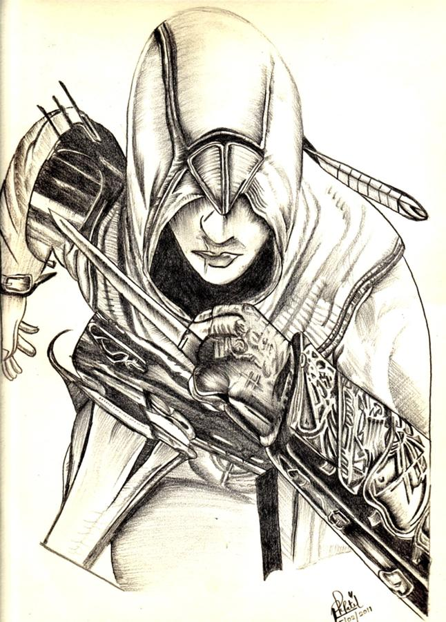 Al Tair From Assassins Creed Drawing By Priyanka Patil