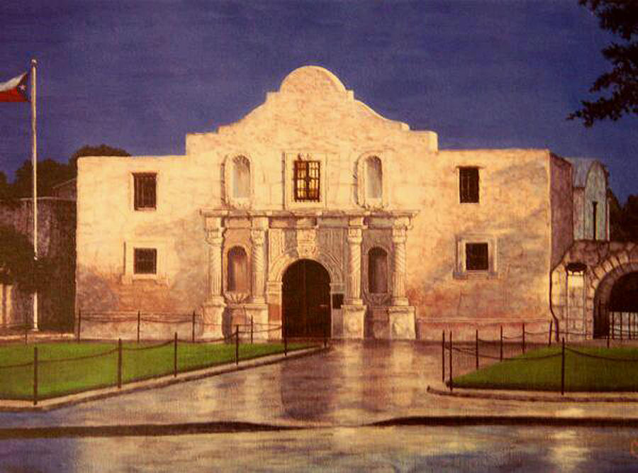 Alamo Sunrise Painting By Carlos Gomez
