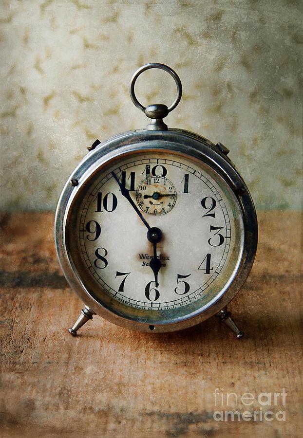 Clock Photograph - Alarm Clock by Jill Battaglia