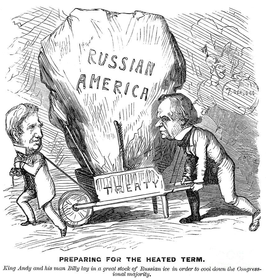 Alaska Purchase Cartoon Photograph By Granger