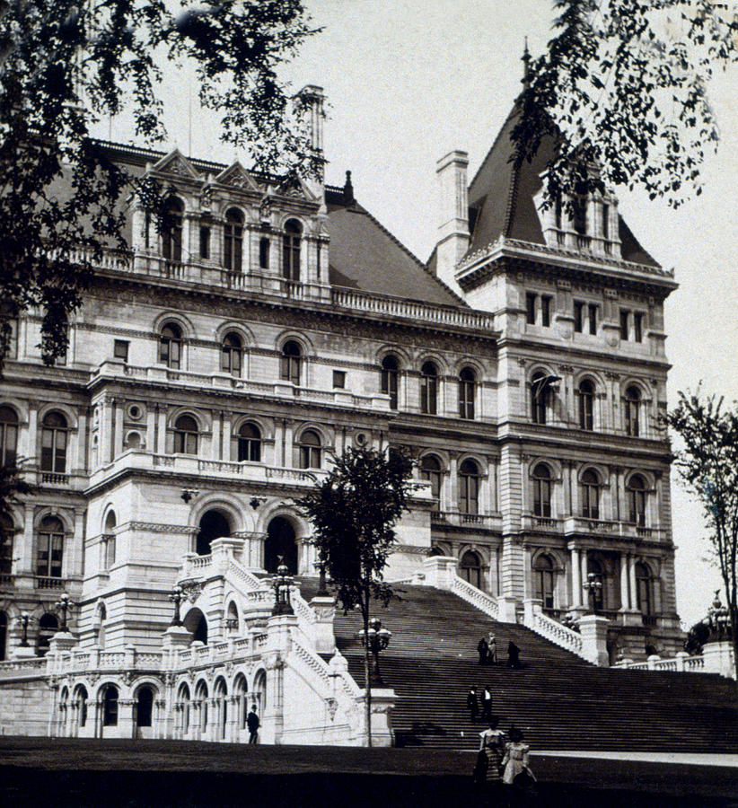 new York  Photograph - Albany New York - State Capitol Building - C 1903 by International  Images