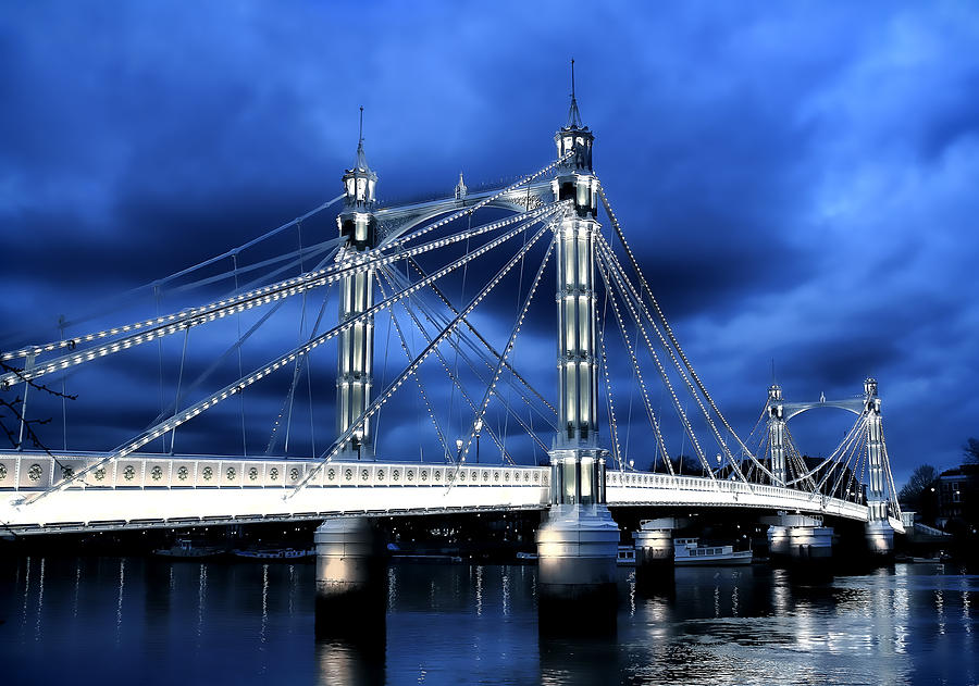 Albert Bridge Photograph - Albert Bridge London by Jasna Buncic