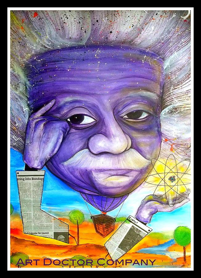 Albert Einstein Painting - Albert Thinks by Jose J Montee Montejano