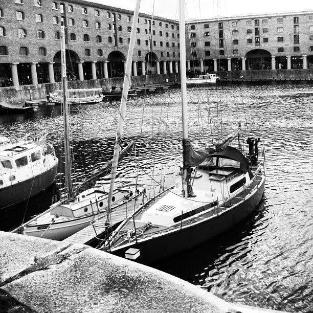 England Photograph - #albertdock #liverpool #harbor #boat by Abdelrahman Alawwad