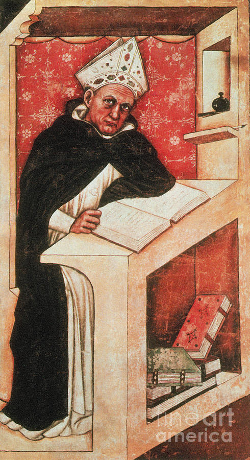 Science Photograph - Albertus Magnus, Medieval Philosopher by Photo Researchers
