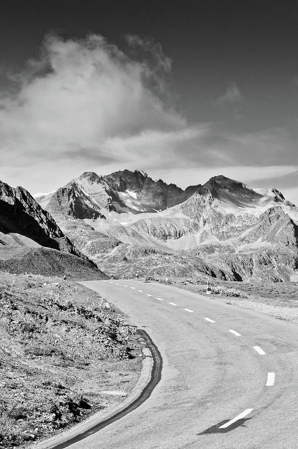 Vertical Photograph - Albula Pass Road by daitoZen