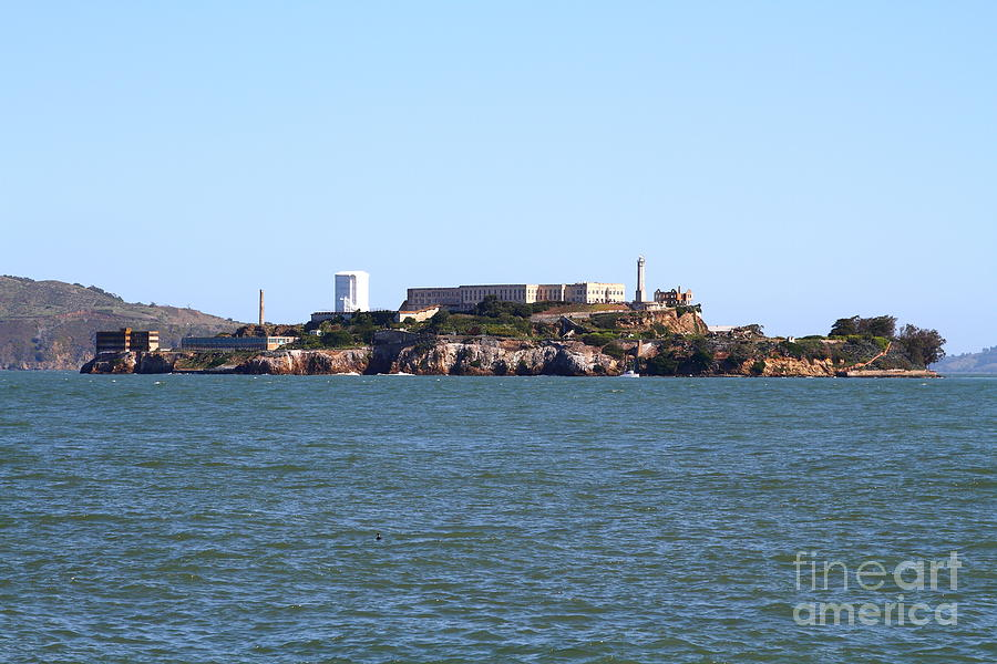 San Francisco Photograph - Alcatraz Island In San Francisco California . West Side . 7d14007 by Wingsdomain Art and Photography