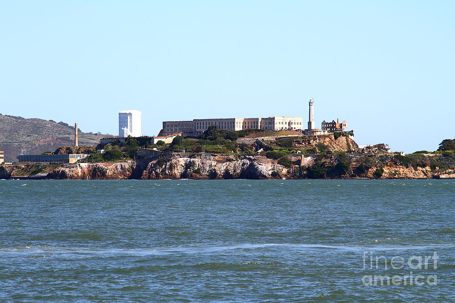 San Francisco Photograph - Alcatraz Island In San Francisco California . West Side . 7d14031 by Wingsdomain Art and Photography