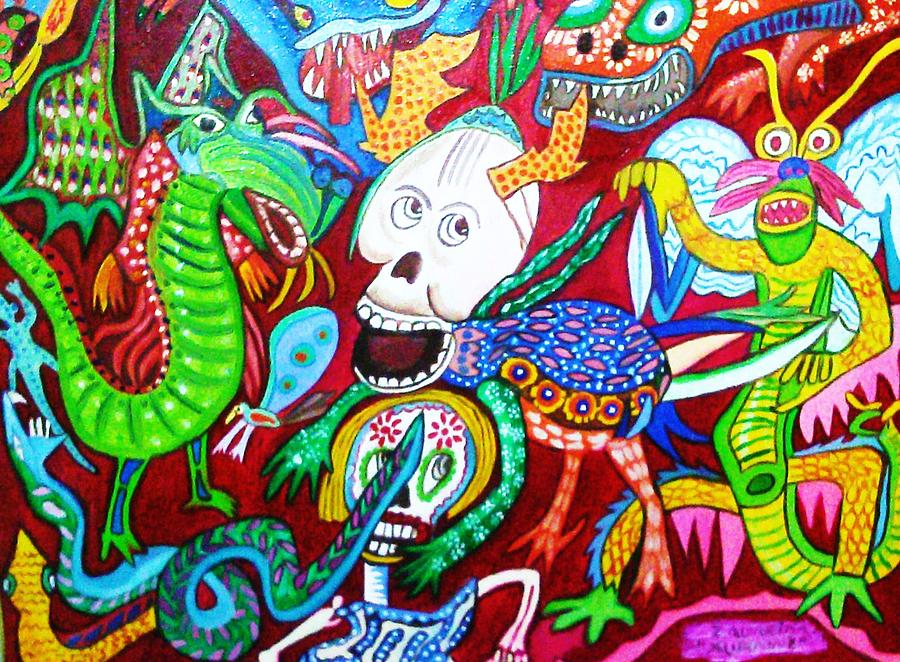 Alebrijes Mexicanos Painting By Robert Almeida