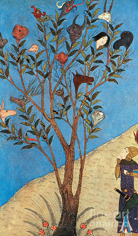 History Photograph - Alexander The Great At The Oracular Tree by Photo Researchers