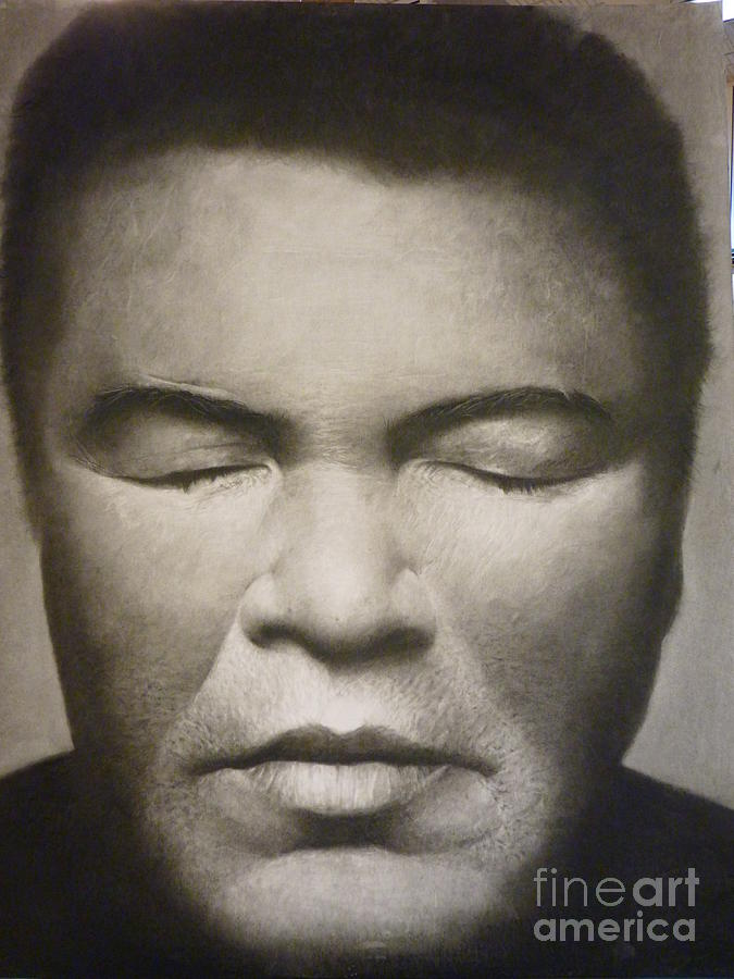 Portraits Drawing - Ali  by Adrian Pickett Jr