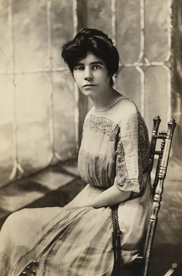 History Photograph - Alice Paul 1885-1977, Protested by Everett
