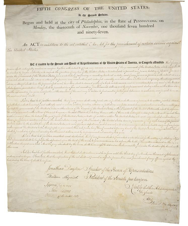 History Photograph - Alien And Sedition Acts Of 1798 by Everett
