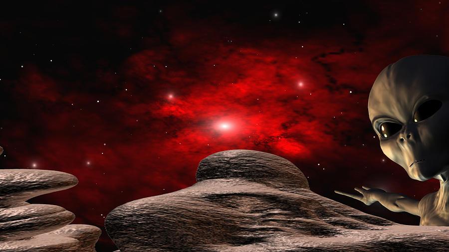 Space Digital Art - Alien Planet by Robert aka Bobby Ray Howle