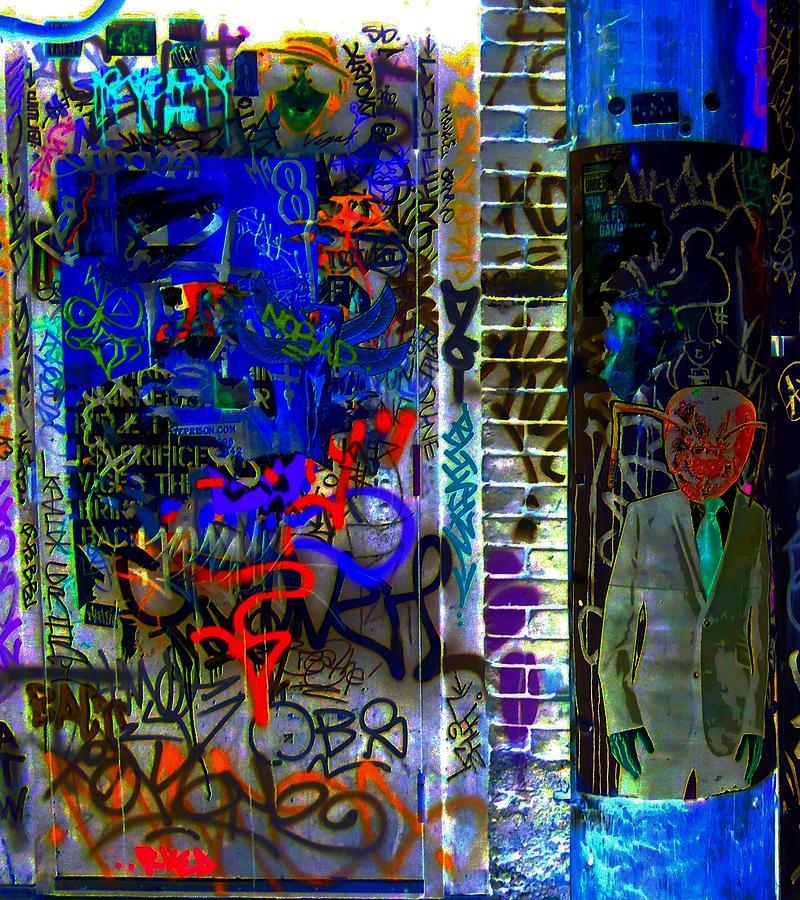 Graffiti Digital Art - Alien Suit 3 by Randall Weidner