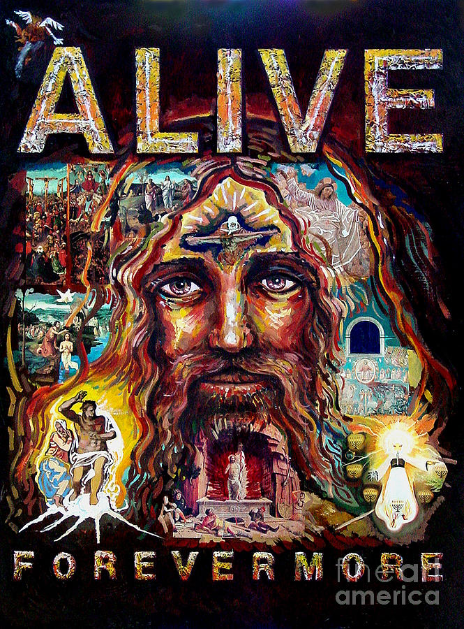 Revelation Painting - Alive Forevermore by Peter Olsen