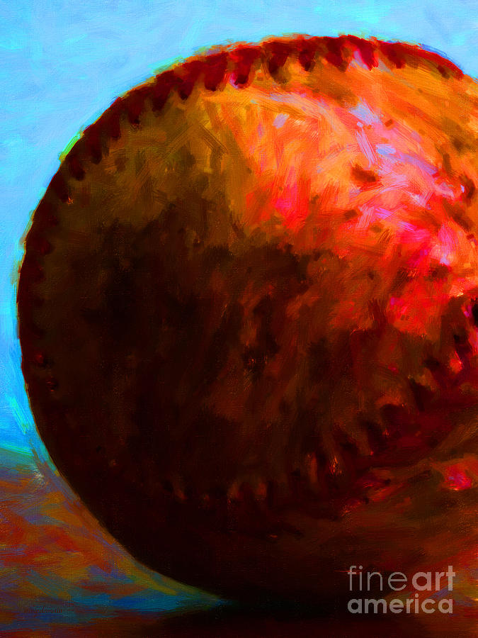 Baseball Photograph - All American Pastime - Baseball Version 3 - Painterly by Wingsdomain Art and Photography