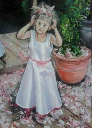 Child Painting - All Eyes On Me by Wale Adeoye