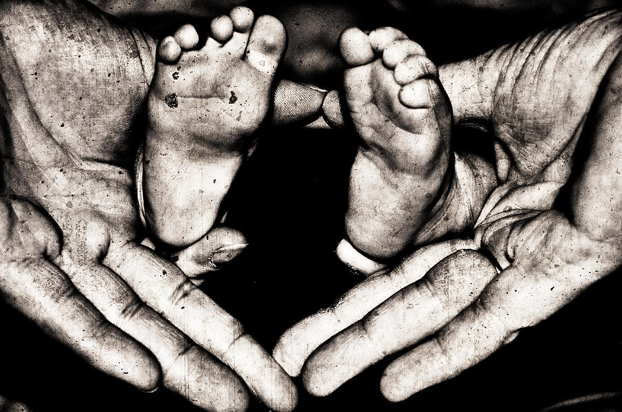 Infant Photograph - All Fingers And Toes  by Martina Fagan