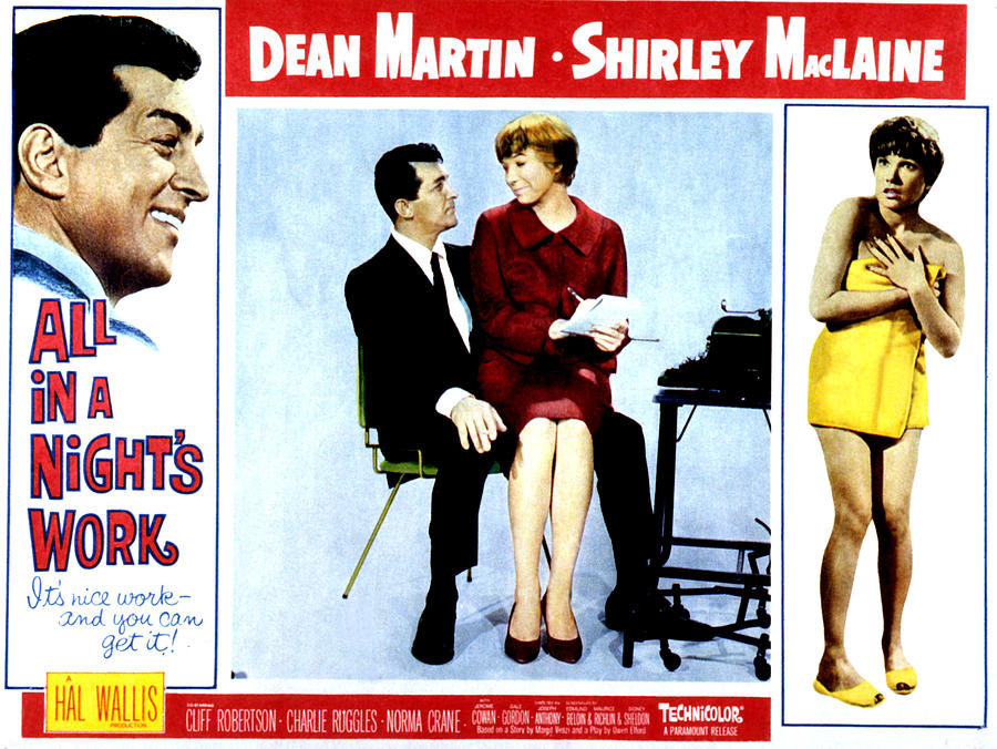 1960s Movies Photograph - All In A Nights Work, Dean Martin by Everett