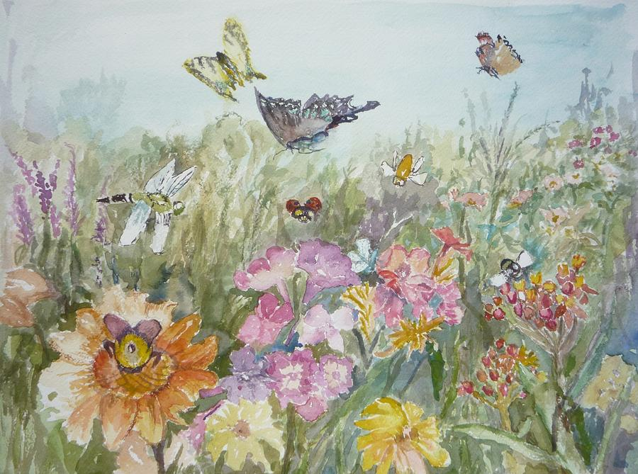Butterflys Painting - All My Friends by Dorothy Herron