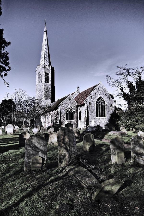 All Saints Photograph - All Saints Wickham Market by Darren Burroughs