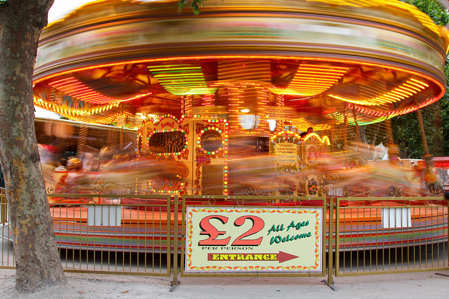 Fairground Photograph - All The Fun Of The Fair by Kevin Bates