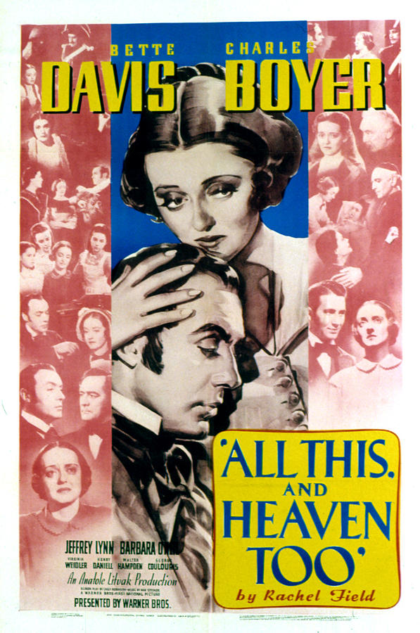 1940s Movies Photograph - All This And Heaven Too, Bette Davis by Everett