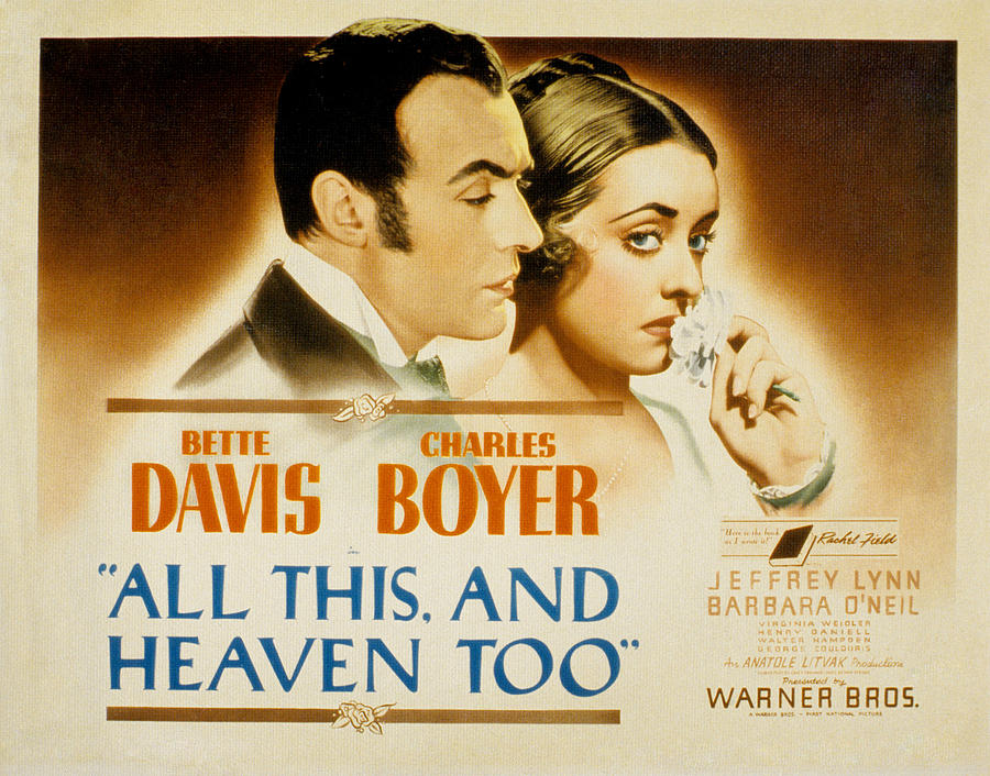 1940 Movies Photograph - All This And Heaven Too, Charles Boyer by Everett