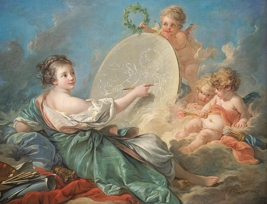 Allegory Painting - Allegory of Painting by Francois Boucher