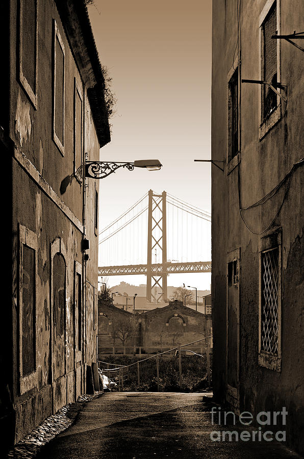 Abandoned Photograph - Alley And Bridge by Carlos Caetano