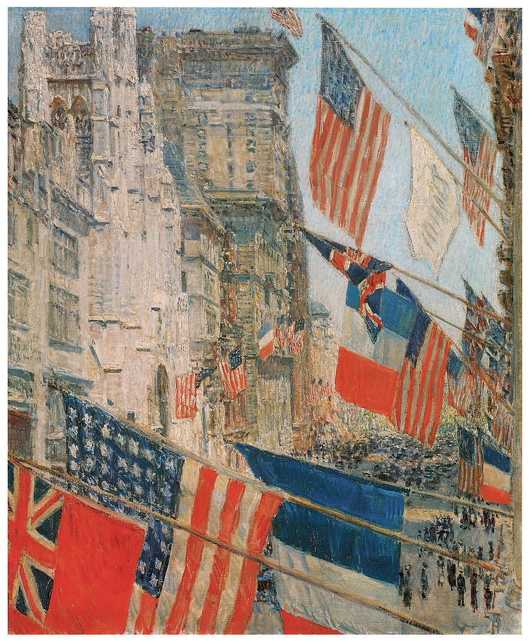 Frederick Childe Hassam Painting - Allies Day by Frederick Childe Hassam