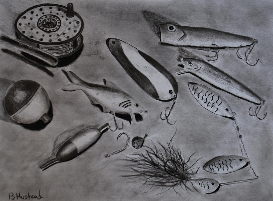 Fish Drawing - Alluring by Brian Hustead