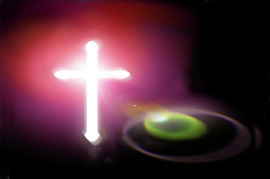 Cross Photograph - Almighty by Richard Piper