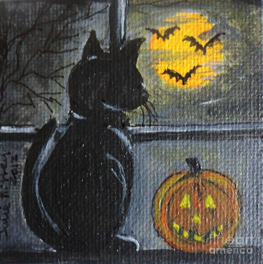 Halloween Painting - Almost Midnight by Julie Brugh Riffey