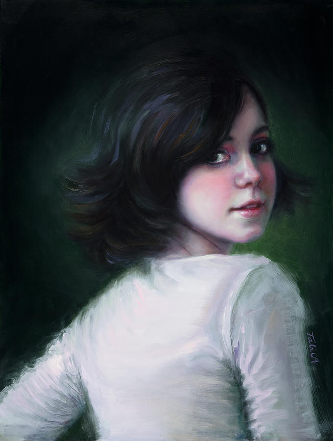 Girl Painting - Almost Ready by Talya Johnson