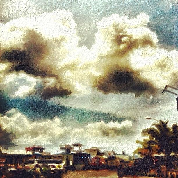 Clouds Photograph - Almost Surreal #instagram by Abid Saeed