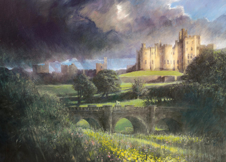 Alnwick Castle Painting by Peter Phillips