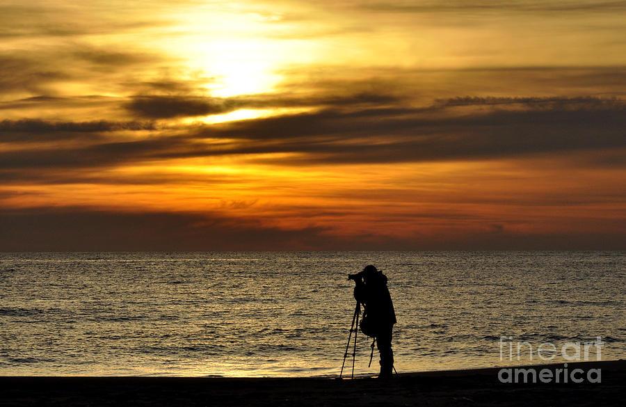 Sea Photograph - Alone by Tamera James