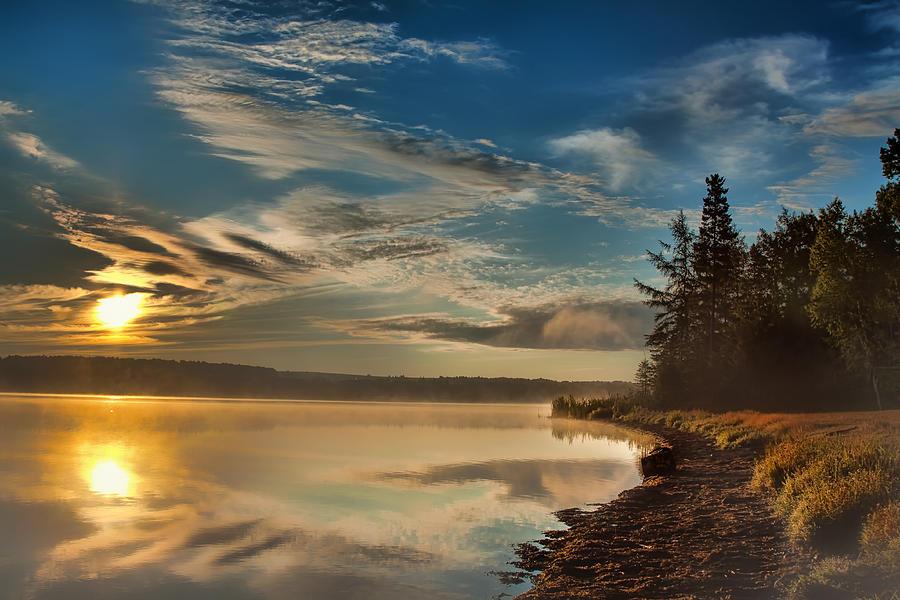 Sunrise Photograph - Along The Edge by Gary Smith