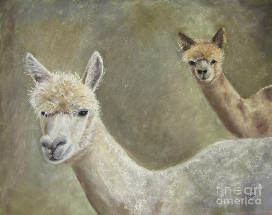 Alpacas Painting - Alpacas by Elizabeth Ellis